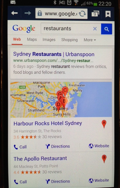 restaurant-local-seo-sydney-on-mobile