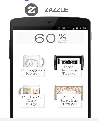 mobile design example of zazzle