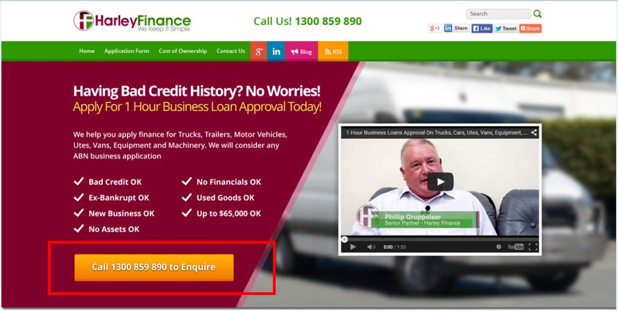 harley finance cta example