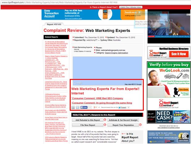 web marketing expert example