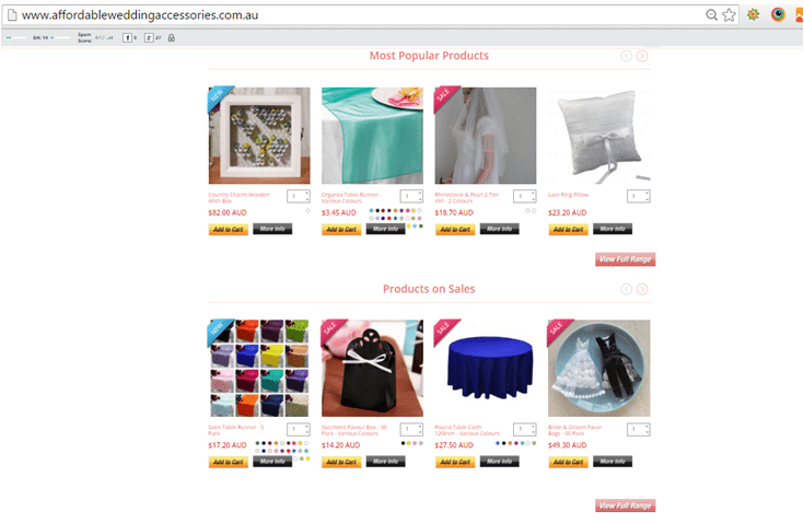 e-commerce homepage that features most popular products, product on sales and new arrivals