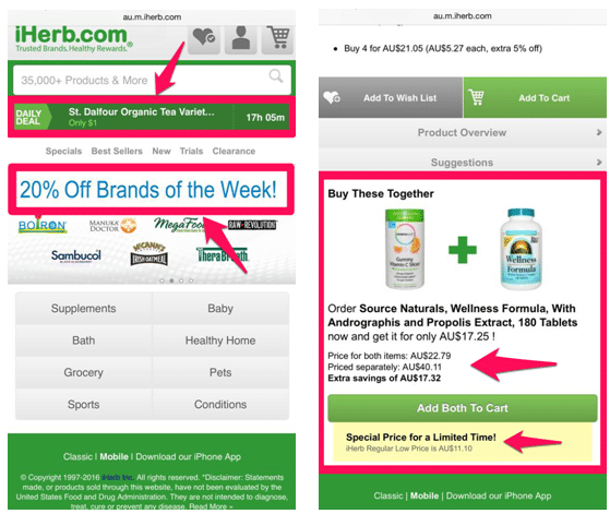Improving ecommerce conversion rates on mobile