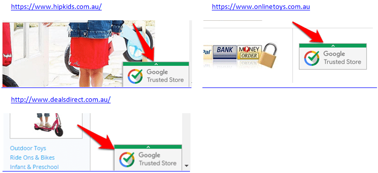Google trusted store badge - eCommerce websites