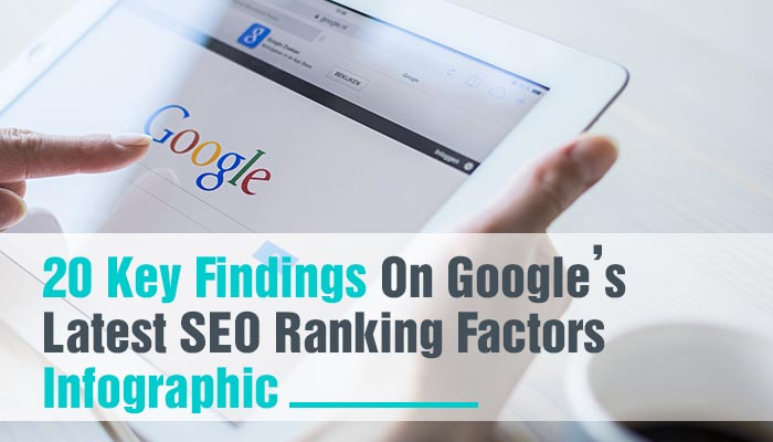 20 KEY FINDINGS ON GOOGLE'S LATEST SEO RANKING FACTORS INFOGRAPHIC