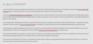 boutique retreats keyword use example