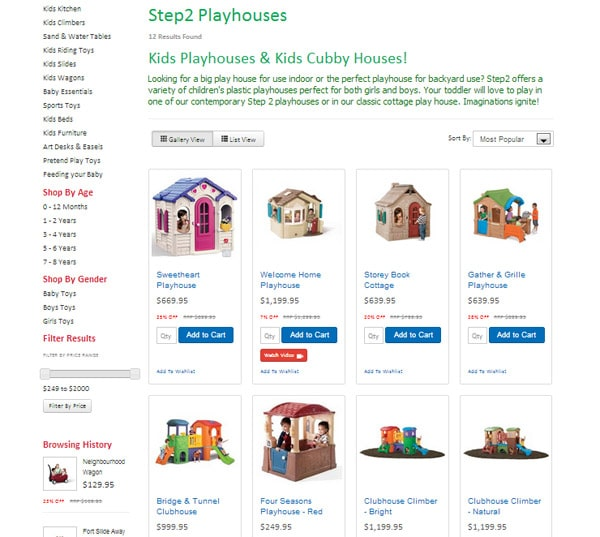 seo case study ecommerce website step2direct technique