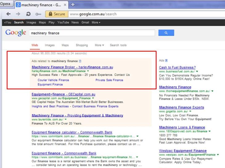 well optimised google adWord campaigns