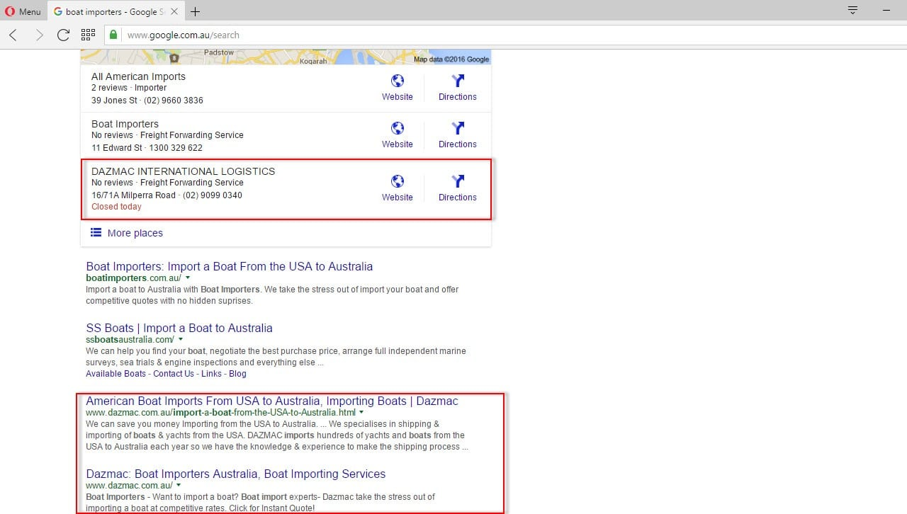 dominating search results