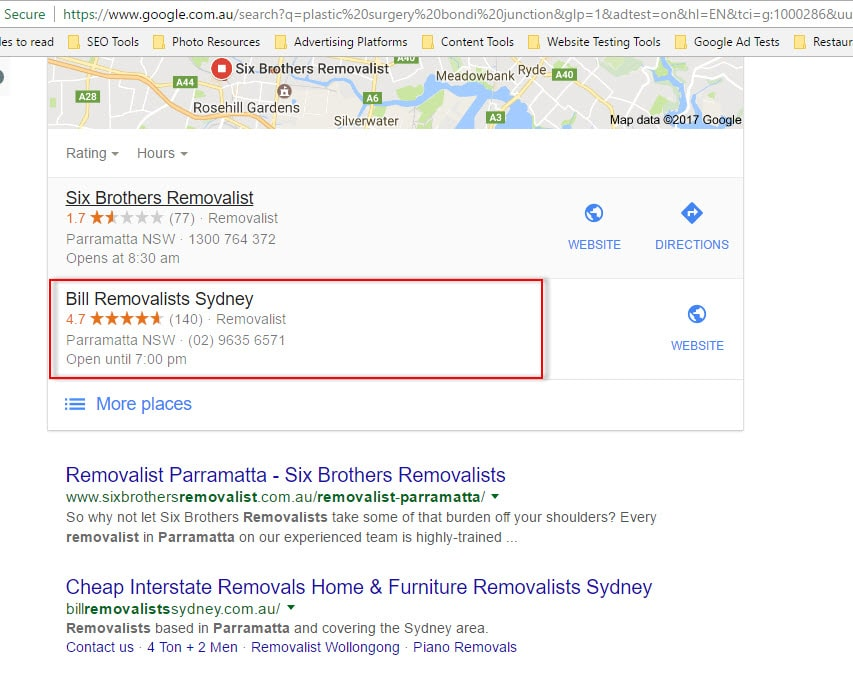 bill removalists sydney local seo