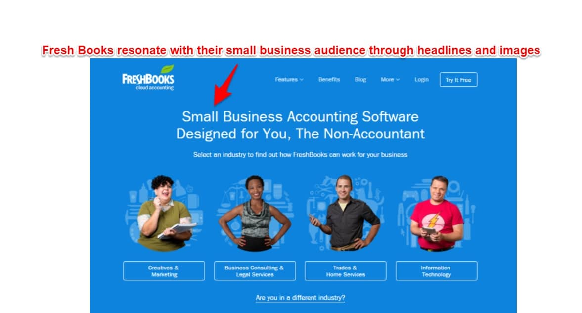 home page resonate with target audience