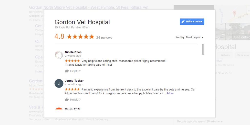 Authentic reviews help GVH convert visitors to leads better