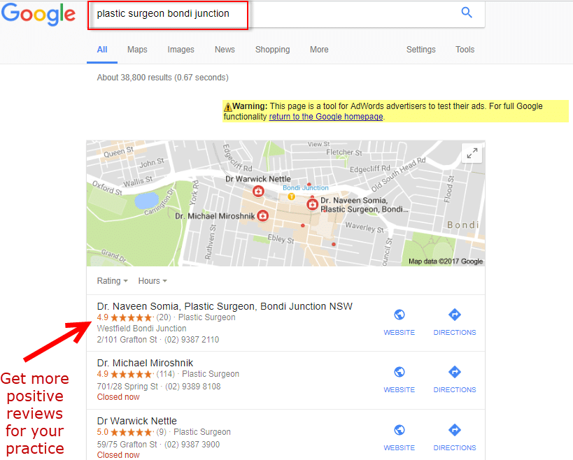 get more local reviews for your practice