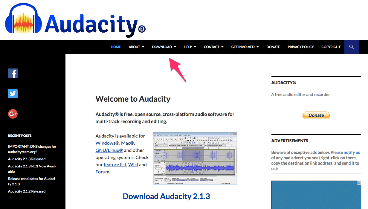 using audacity for podcast